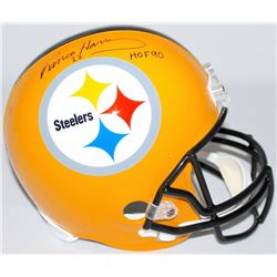 "Franco Harris Signed Steelers Full Size Helmet Inscribed ""HOF 90"" (TSE COA)"