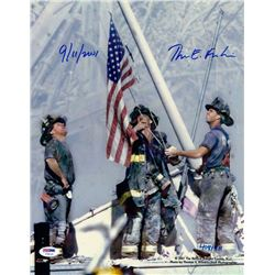 "Ground Zero Flag Raising Limited Edition 11x14 Photo Signed & Inscribed ""9/11/2001"" by Photographer"