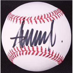 Donald Trump Signed OML Baseball (JSA ALOA)
