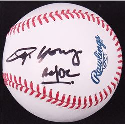 "Angus Young Signed OML Baseball Inscribed ""AC/DC"" (JSA ALOA)"
