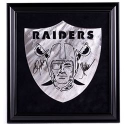Bo Jackson & Marcus Allen Signed Raiders 16x17 Custom Framed Display (JSA COA)