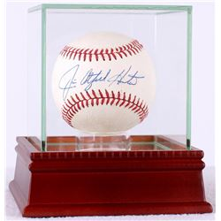 "Jim ""Catfish"" Hunter Signed OAL Baseball in High Quality Display Case (JSA LOA)"