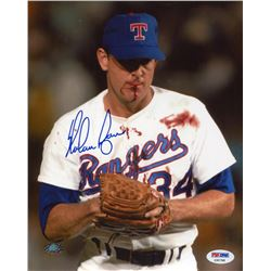 "Nolan Ryan Signed Rangers ""Nolan Knows Bo"" 8x10 Photo (Ryan Hologram & PSA COA)"