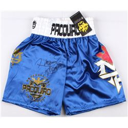 "Manny Pacquiao Signed Boxing Trunks Inscribed ""Pacman"" (Pacquiao COA)"