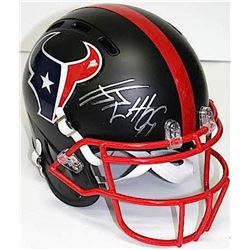 J.J. Watt Signed Texans Full-Size Flat Matte Black Full-Size Authentic Pro-Line Helmet (JSA COA)