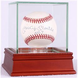 "Mickey Mantle Signed OAL Baseball Inscribed ""No. 7"" with High Quality Display Case (JSA LOA)"