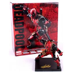"Stan Lee Signed ""Deadpool"" High Quality Hand-Painted Marvel 6"" Action Figure with Original Box (PSA"