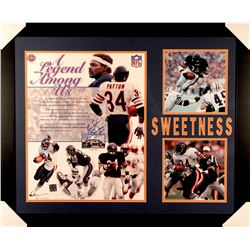 "Walter Payton Signed Bears 27x33 Custom Framed Photo Inscribed ""Sweetness"" & ""16,726"" (Payton COA)"