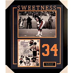 "Walter Payton Signed Bears 27x33 Custom Framed Photo Inscribed ""Sweetness"" & ""16,726"" (PSA COA & Pay"