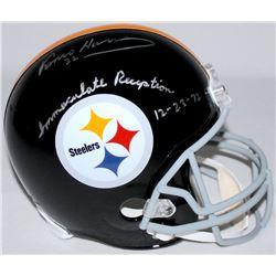 "Franco Harris Signed Steelers Full Size Helmet Inscribed ""Immaculate Reception 12-23-72"" (JSA COA)"