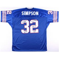 "O.J. Simpson Signed Bills Jersey With (4) Inscriptions ""H.O.F. 85"", ""6 Time Pro Bowl"", ""11,236 YDS"""