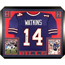 Sammy Watkins Signed Bills 35x43 Custom Framed Jersey (JSA COA)