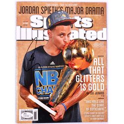 Stephen Curry Signed Warriors 2015 Sports Illustrated Magazine (JSA COA)