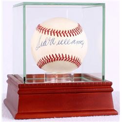 Ted Williams Signed OAL Baseball with High Quality Display Case (JSA LOA)