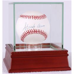 Hank Aaron Signed ONL Baseball with High Quality Display Case (PSA COA)
