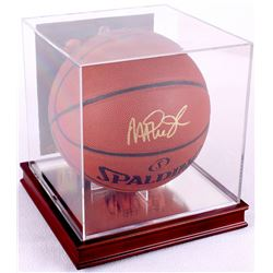 Magic Johnson Signed Basketball with High Quality Display Case (PSA COA)