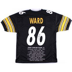Hines Ward Signed Steelers Career Highlight Stat Jersey (TSE COA)