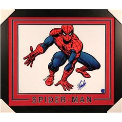Stan Lee Signed Spider-Man 23x27 Custom Framed Photo (JSA COA & Lee Hologram)
