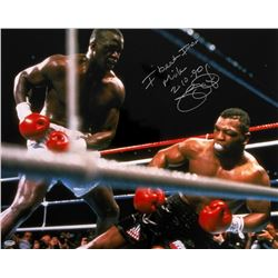 "James ""Buster"" Douglas Signed 16x20 Photo Inscribed ""I Beat Iron Mike 2-10-90"" (Schwartz COA)"