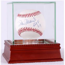 "Stan Musial Signed ONL Baseball Inscribed ""HOF 69"" with High Quality Display Case (JSA COA)"