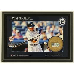 "Derek Jeter ""The Final Season 2014"" 5x7 Photo Plaque with Authentic Game-Used Yankee Stadium Dirt (M"