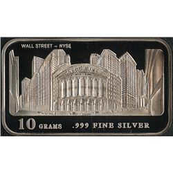 10 Grams .999 Silver Wall Street - NYSE Bullion Bar