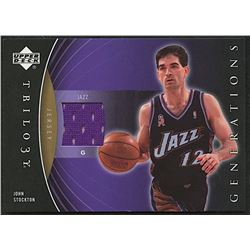 John Stockton 2006-07 Upper Deck Trilogy Generations Past Memorabilia #PMJS