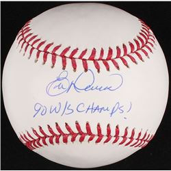 "Eric Davis Signed OML Baseball Inscribed ""90 W/S Champs!"" (Schwartz COA)"