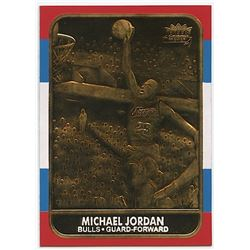 1986-87 Fleer Michael Jordan RC NBA 23K Gold Limited Edition Card