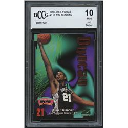 Tim Duncan 1997-98 Z-Force #111 RC (BCCG 10)