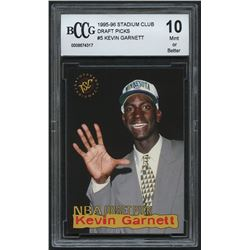 Kevin Garnett 1995-96 Stadium Club Draft Picks #5 (BCCG 10)