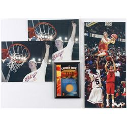 2003 Syracuse Championship Season Game-Used Carrier Dome Court 5x7 Plaque with (4) Star PG Gerry McN