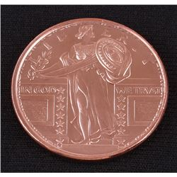 Standing Liberty 1 AVDP Oz. Fine Copper Round