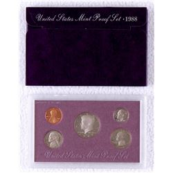 1988 United States Mint Clad Proof Set of (5) Coins