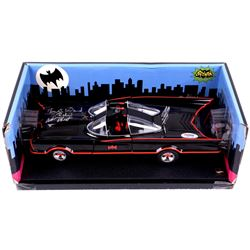 "Adam West & Burt Ward Dual Signed 1:18 1966 Classic Batmobile Inscribed ""Robin"" (PSA COA)"