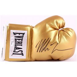 Mike Tyson Signed Gold Everlast Boxing Glove (JSA COA)