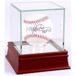 "Ryne Sandberg Signed OML Baseball Inscribed ""HOF 05"" with High Quality Display Case (JSA COA)"