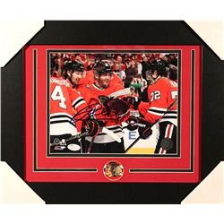 Patrick Kane Signed Blackhawks 14x17 Custom Framed Photo Display (JSA COA)