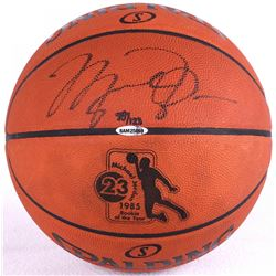 Michael Jordan Signed LE 1985 Rookie of the Year Official NBA Game Ball (UDA COA)