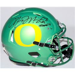 "Marcus Mariota Signed LE Oregon Full-Size Authentic Proline Speed Helmet Inscribed ""Heisman '14"" #9/"