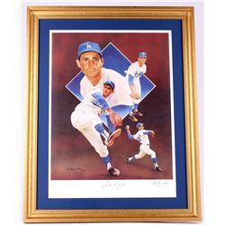 Sandy Koufax Signed LE Dodgers 23x29 Custom Framed Lithograph Display (JSA ALOA)
