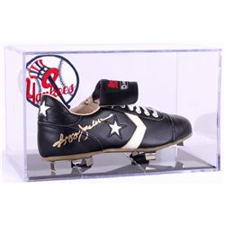 Reggie Jackson Signed Vintage Converse Baseball Cleat with Display Case (PSA COA)