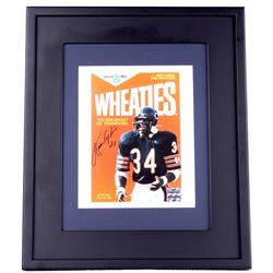 Walter Payton Signed Bears 15x18 Custom Framed Photo Display (Payton COA)