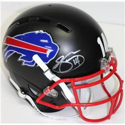 Sammy Watkins Signed Bills Matte Black Full-Size Authentic Proline Helmet (JSA COA)