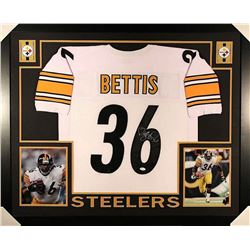 Jerome Bettis Signed Steelers 35x43 Custom Framed Jersey (JSA COA)