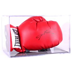 Sugar Ray Leonard Signed Everlast Boxing Glove with Display Case (PSA COA)