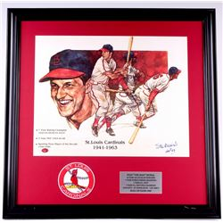 "Stan Musial Signed Cardinals 23x23 Custom Framed Photo Display Inscribed ""HOF 69"" (Stan the Man COA)"
