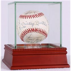 MLB Hall of Famers Multi-Signed OAL Baseball with (18) Signatures Including Mickey Mantle, Warren Sp