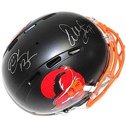 Warren Sapp & Derrick Brooks Signed Buccaneers Matte Black Full-Size Authentic Proline Helmet (JSA C