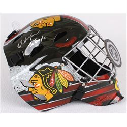 "Ed Belfour Signed Blackhawks Full-Size Goalie Mask Inscribed ""The Eagle"" (Schwartz COA)"